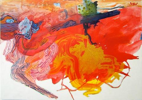 A Pintura, o Vermelho, e Suas Linhas, 2009. 100x140cm